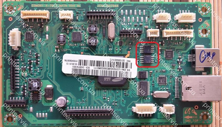 Прошитая FLASH Winbond 25Q64 для Samsung SCX-3400FW (прошивка